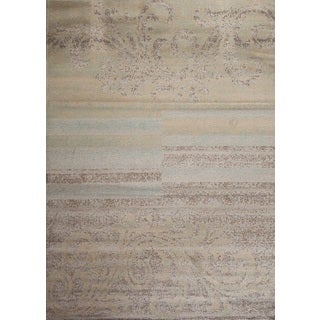 Fireside Blue, Beige, and Brown Area Rug (3'4 x 5'0)