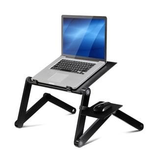 Furinno X7 Ergonomics Aluminum Vented Dual Cooling Fans Adjustable Multi-functional Portable Laptop Stand With Mousepad
