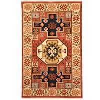 Herat Oriental Indo Hand-knotted Tribal Kazak Wool Rug - 3' x 5'