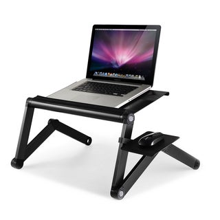 Furinno A6 Ergonomics Aluminum Vented Adjustable Multi-functional Portable Laptop Stand With Mousepad