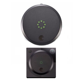 August Smart Lock with Video Doorbell Cam (Dark Gray)