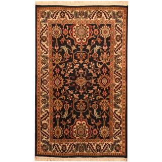 Herat Oriental Indo Hand-knotted Kashan Wool Rug (3' x 4'10)
