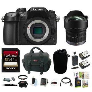 Panasonic LUMIX DMC-GH4KBODY 16.05MP Digital Single Lens Mirrorless Camera +Panasonic 7-14mm f/4.0 Micro Four Thirds Lens bundle
