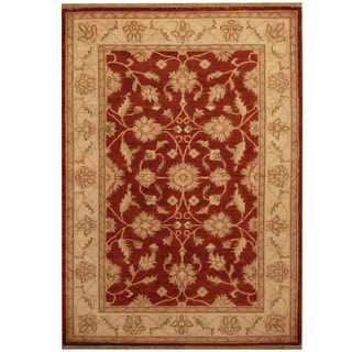 Herat Oriental Afghan Hand-knotted Oushak Wool Rug (4'2 x 5'10)