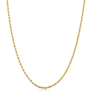 Fremada 14k Yellow Gold 1.5-mm Solid Rope Chain Necklace (14 - 30 inches)