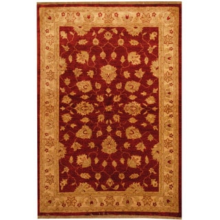 Herat Oriental Afghan Hand-knotted Oushak Wool Rug (4' x 5'9)