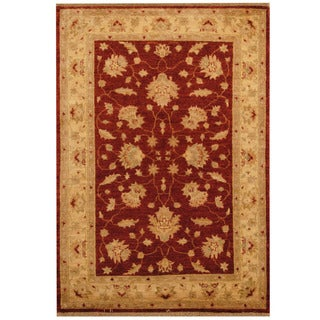Herat Oriental Afghan Hand-knotted Oushak Wool Rug (4' x 6')
