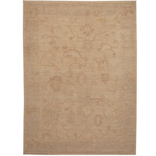 Herat Oriental Afghan Hand-knotted Oushak Wool Rug (4'2 x 5'9)