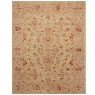 Herat Oriental Afghan Hand-knotted Oushak Wool Rug (4'10 x 6'1)