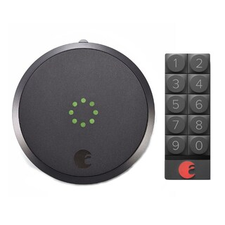 August Smart Lock and Smart Keypad (Dark Gray)