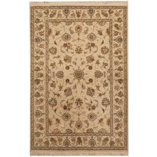 Herat Oriental Indo Hand-knotted Kashan Wool & Silk Rug (4' x 6')