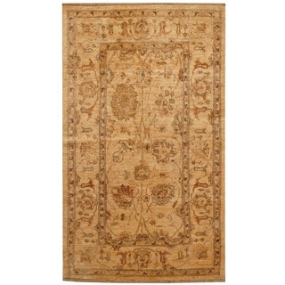 Herat Oriental Afghan Hand-knotted Oushak Wool Rug (3'8 x 6'2)