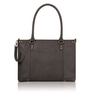 Solo Executive Faux Leather 15.6-inch Laptop Tote Bag