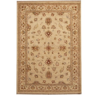 Herat Oriental Afghan Hand-knotted Oushak Wool Rug (4' x 5'10)