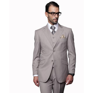 Statement Men's 3-piece Tan Wool Suit