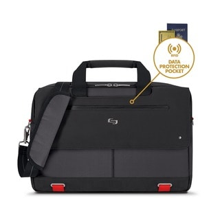 Solo Pro Aegis 15.6-inch Laptop Briefcase w/RFID Pocket