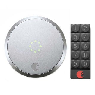 August Smart Lock (Silver) and Smart Keypad (Dark Gray)