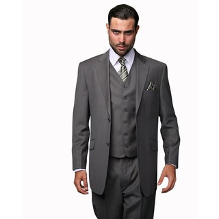 Statement Men's Wool 3 Piece Oxford Suit (More options available)