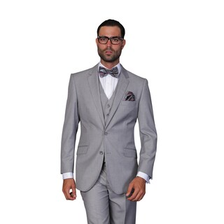 Statement Men's Grey Wool 3-piece Suit