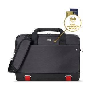Solo Pro 15.6-inch Laptop Slim Briefcase w/RFID Pocket