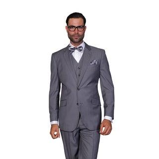 Statement Men's Charcoal Wool 3-piece Suit