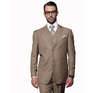 Statement Men's 3-piece Bronze Wool Suit