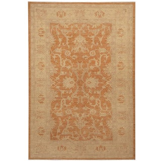 Herat Oriental Afghan Hand-knotted Oushak Wool Rug (3'10 x 6')