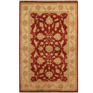 Herat Oriental Afghan Hand-knotted Oushak Wool Rug (3'9 x 5'9)