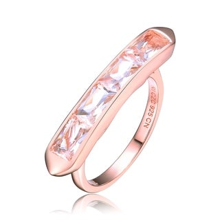 Collette Z Rose Gold Overlay White Cubic Zirconia Ring