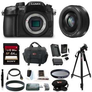 Panasonic LUMIX DMC-GH4 16.05MP Digital Camera + Panasonic Lumix G H-H020AK 20mm F/1.7 II ASPH Lens Bundle