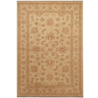 Herat Oriental Afghan Hand-knotted Oushak Wool Rug (4'2 x 6')