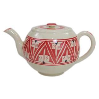 Handmade Stoneware Teapot Nejma Design (Tunisia)