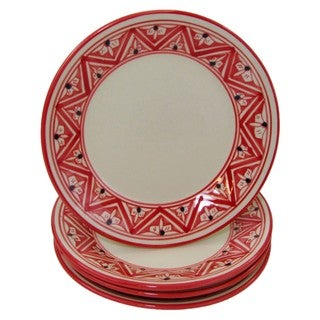 Set of 4 Stoneware Side Plates Nejma Design (Tunisia)