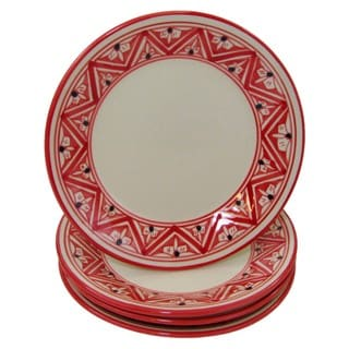 Handmade Set of 4 Stoneware Side Plates Nejma Design (Tunisia)