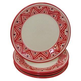 Handmade Set of 4 Stoneware Side Plates Nejma Design (Tunisia)