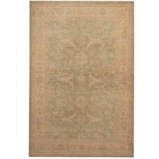 Herat Oriental Afghan Hand-knotted Oushak Wool Rug (4' x 6'1)