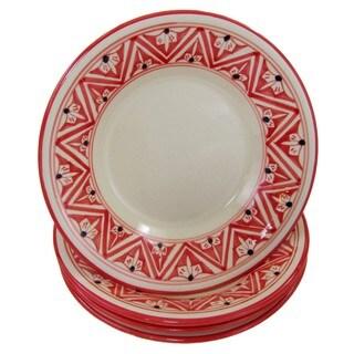 Handmade Set of 4 Stoneware Pasta/Salad Bowls Nejma Design (Tunisia)