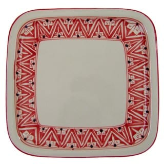 Square Stoneware Platter Nejma Design (Tunisia)