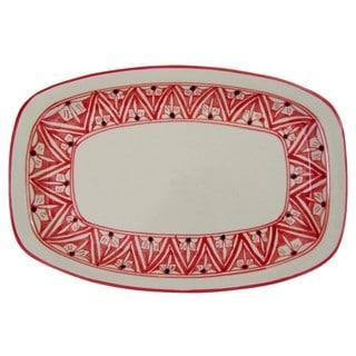 Rectangular Stoneware Platter Nejma Design (Tunisia)