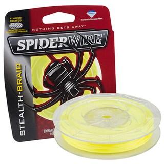 """Spiderwire Stealth Braid Superline Line Spool 200 Yards, 0.009"""" Diameter, 15 lbs Breaking Strength, Hi-Vis Yellow"""