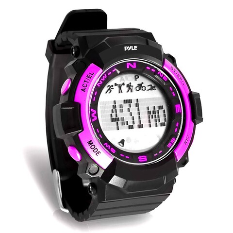 Pyle PSPTR19OR Multi-Function Sports Wrist Watch, Sleep Monitor, Pedometer Step Counter, and Stop Watch