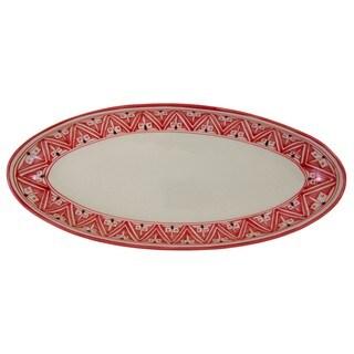 Extra Large Stoneware Oval Platter Nejma Design (Tunisia)