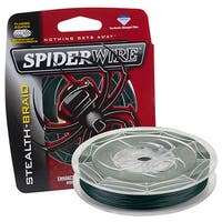"Spiderwire Stealth Braid Superline Line Spool 200 Yards, 0.010"" Diameter, 20 lbs Breaking Strength, Moss Green"