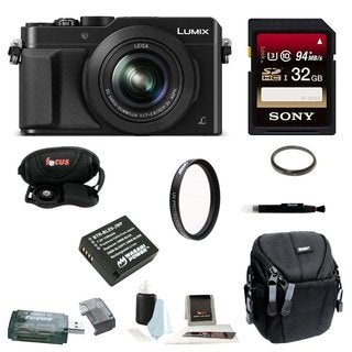 Panasonic LUMIX DMC-LX100K 4K with Leica DC Lens w/32GB Accessory Bundle