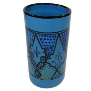 Handmade Stoneware Utensil/Wine Holder Sabrine Design (Tunisia)