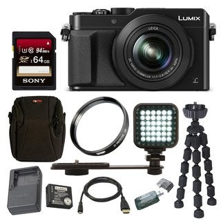 Panasonic LUMIX DMC-LX100K 4K with Leica DC Lens(Black) w/ 64GB Acc Bundle
