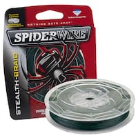 Spiderwire Stealth Braid Superline Moss Green Microfiber 200-yard Fishing Line Spool