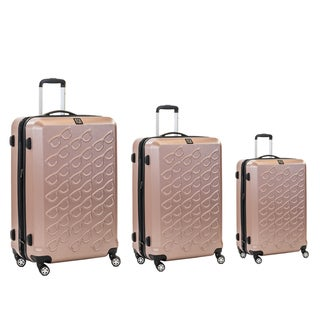 Ful Gold Sunglasses 3-piece Molded Hardside Spinner Luggage Set