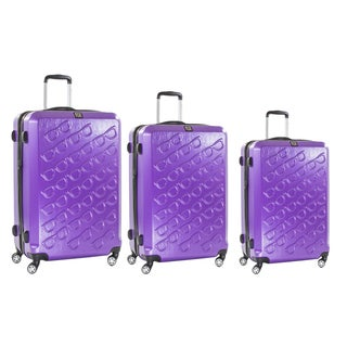 Ful Purple Sunglasses 3-piece Molded Hardside Spinner Luggage Set