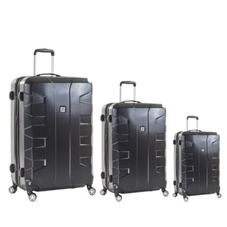Ful Laguna Black 3-piece Hardside Spinner Luggage Set
